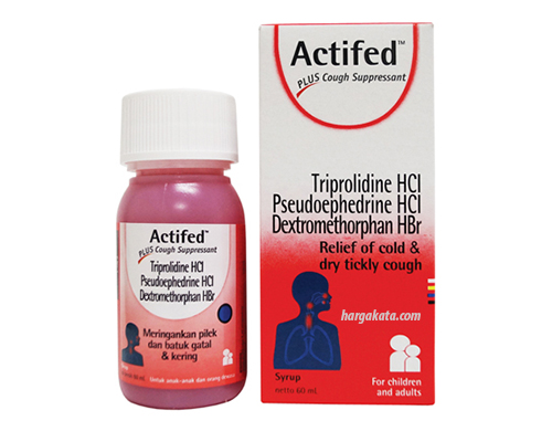 Actifed Cough Syrup Merah