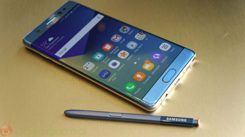 Galaxy Note FE Blue Coral