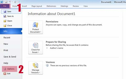 FIle Ms Word - Mengganti Format Penyimpanan File